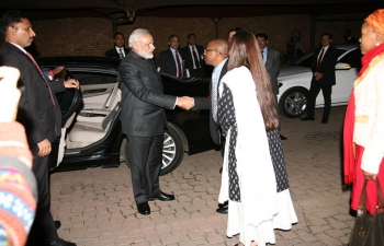 Prime Minister Shri Narendra Modi at the Nelson Mandela Foundation, Johannesburg on 8/7/2016.