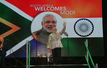 Prime Minister Shri Narendra Modi's address to the Indian community at Ticketpro Dome, Johannesburg