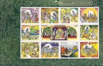 Release of a set of 11 commemorative postage stamps on Ramayana on 22 September 2017