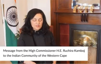 Message from High Commissioner Ruchira Kamboj to the Indian community in the Western Cape, South Africa on the occasion of Diwali
