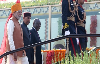 President Cyril Ramaphosa's visit to India.