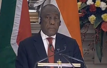 Exchange of Agreements & Press Statement: State Visit of President of the Republic of South Africa