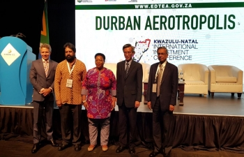 High Commissioner Jaideep Sarkar at a panel discussion of BRICS countries at the Kwazulu Natal Investment Conference (12-14 Sept. 2019)  in Durban