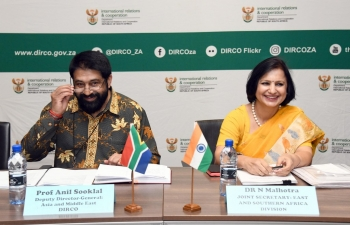 10th India- South Africa Foreign Office Consultations, Pretoria, 3rd October 2019