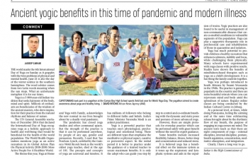Article by High Commissioner Shri Jaideep Sarkar on the benefits of Yoga during the current time of pandemic