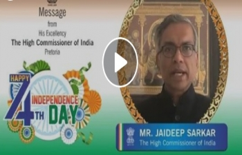 High Commissioner's message on the occasion of Independence Day celebrations 2020