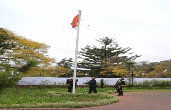 Flag hoisting ceremony of 75th Independence Day of India at High Commission of India, Pretoria