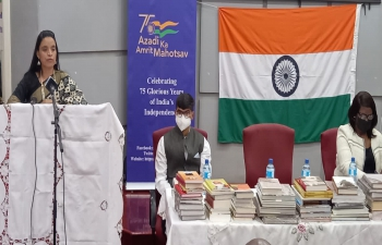 Gifting of 75 books on India to the National Library of Lesotho as part of #AmritMahotsav celebrations